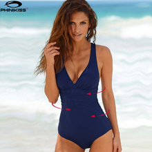 Vintage One Piece Swimsuit Women Swimwear Solid Monokini Retro Bodysuit Beach Wear Black Blue Bath Suit Striped Maillot De Bain