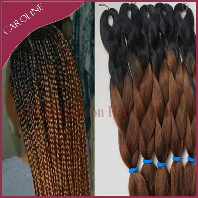 Braiding Kinky Twist Hair Two Tone Xpression Jumbo Braid