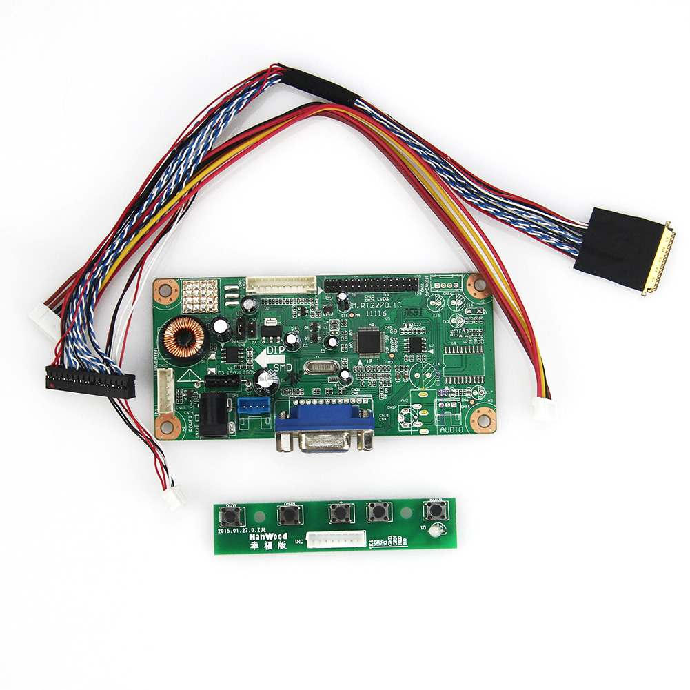 M.RT2270 LCD/LED Controller Driver Board(VGA) For N164HGE-L12 LP156WF1-TLC1 B156HW01  LVDS Monitor Reuse Laptop 1920x1080
