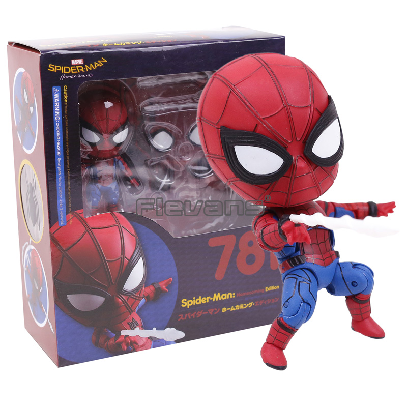 Spider-Man Cute Nendoroid #781 Spiderman Homecoming Peter Parker PVC Acion Figure Doll Supder Hero Collecible Model Toy