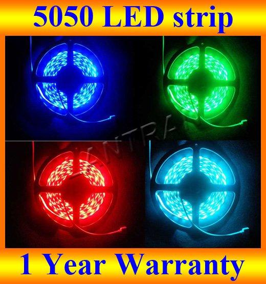 Hot Sale 150 LEDs 5m 5050 Rgb Waterproof 12 Volt Led Strip