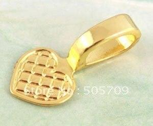 300 шт. золотой цвет пластины металлический Клей Сердце Очаровательные Подвески A11586GP