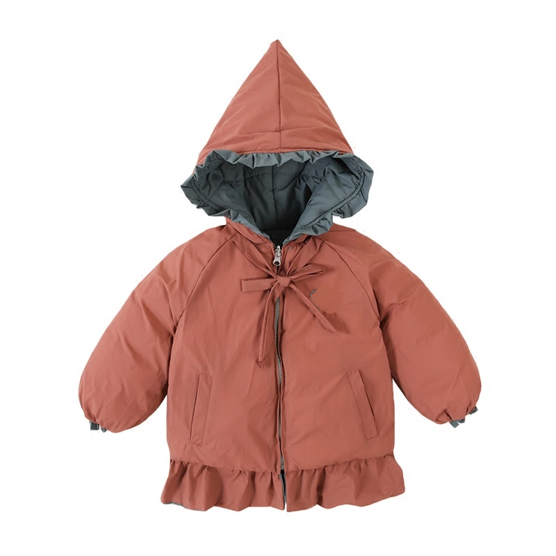 Fashion Warm Girl Winter Clothes Solid Color Jacket Children Clothing Windbreaker Jackets Hooded Girls Thick Warm Coat 2-7T 2017 new fashion girls winter warm coat kids jacket hooded snow wear cotton down outerwear girl solid color winter clothes