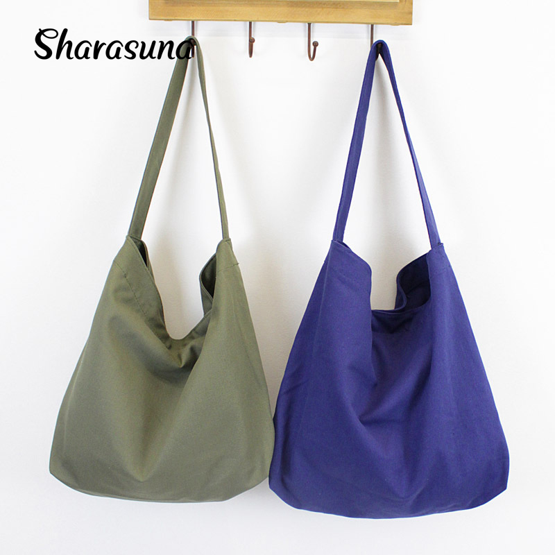 Canvas Shoulder Bags Casual Style for Women Cloth Handbag Big Tote Bag casual style print and canvas design satchel for women