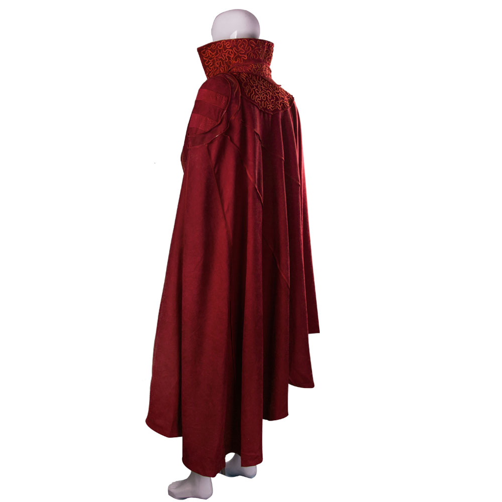 2016 Marvel Movie Doctor Strange Costume Cosplay Steve Red Cloak Costume Robe Halloween Costume Party  (2)