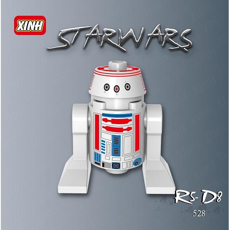 20Pcs Star Wars R2D2 BB8 Dolls RSD8 Smart Robot Classic Bricks Action Figures Model Building Blocks Children Gift Toys XH 528