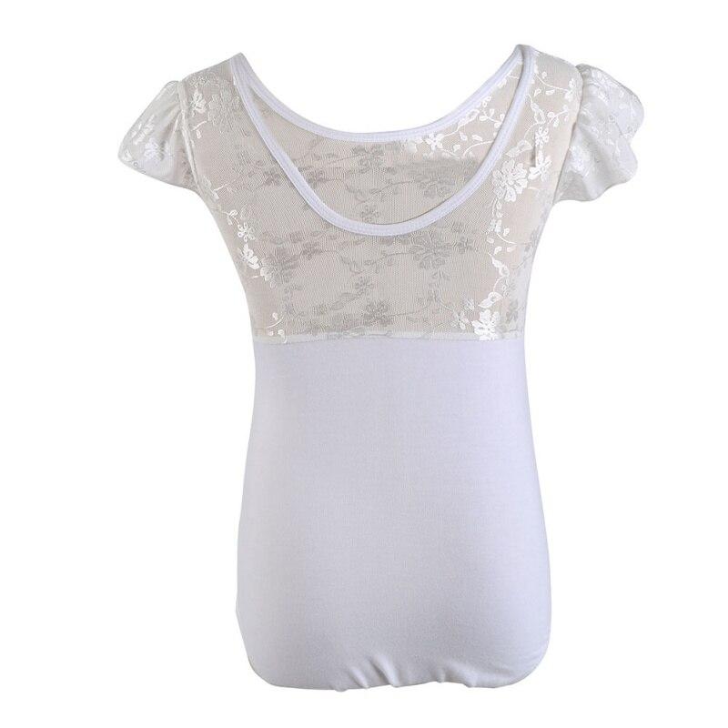 Girls Ladies Short Sleeve Dance Leotard Shiny Lycra Modern Disco Costume