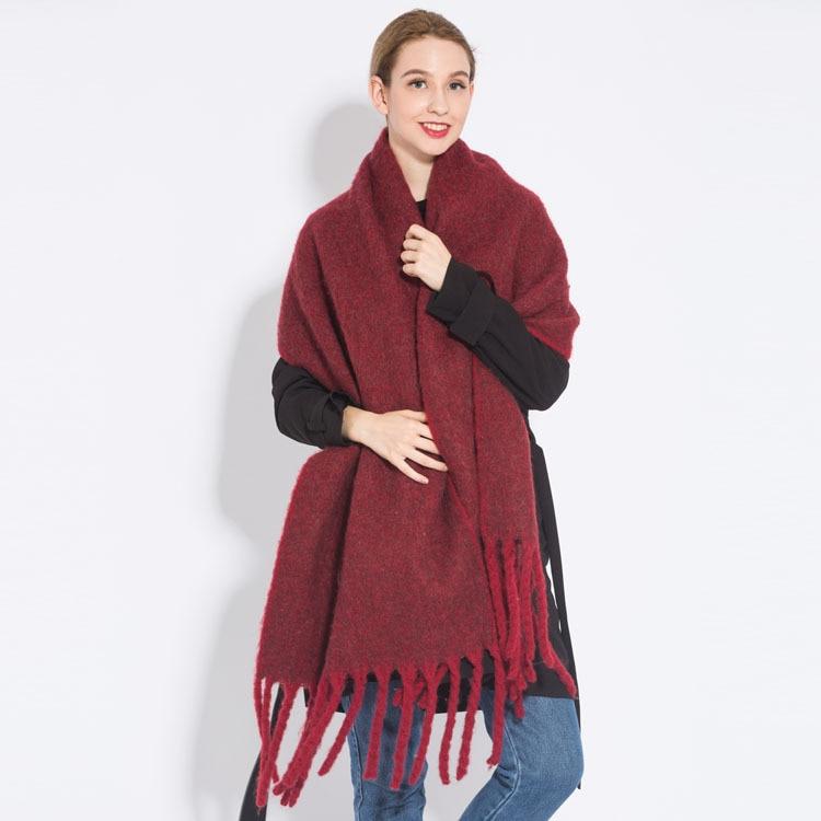 Winter Warm Chunky Women Plain Scarf Shawls Fashion Female Long
