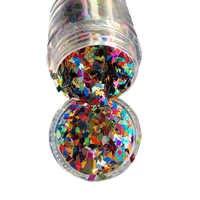 1 scatola di 10 ml Glitter Olografico Brillante Colorato Rombo Forma Mix Nail Paillettes Paillette Glitters Per Il FAI DA TE Unghie artistiche Decorazioni