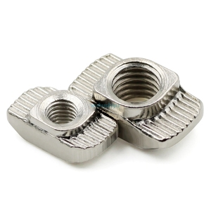 Image 3 - 10/20/50/100pcs M3/M4/M5*10*6 for 20 Series Slot T nut Sliding T Nut Hammer Drop In Nut Fasten Connector 2020 Aluminum Extrusion