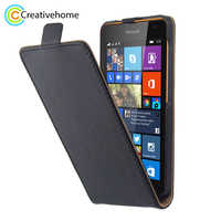 For Nokia Lumia 535 Case Vertical Flip Luxury PU Leather Case for Microsoft Nokia Lumia 535 Back Cover