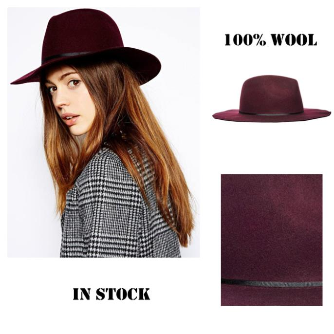 78c2226a6e90bd Felted Fedora hat 100% Wool Women's Wine red Trilby felted Panama Ladies Cap-in  Fedoras from Apparel Accessories on Aliexpress.com | Alibaba Group