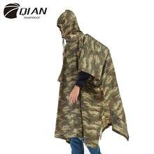 QIAN-chubasquero Impermeable para hombre y mujer, Poncho de lluvia de jungla, mochila de camuflaje, para ciclismo, escalada, senderismo, viaje, cubierta de lluvia