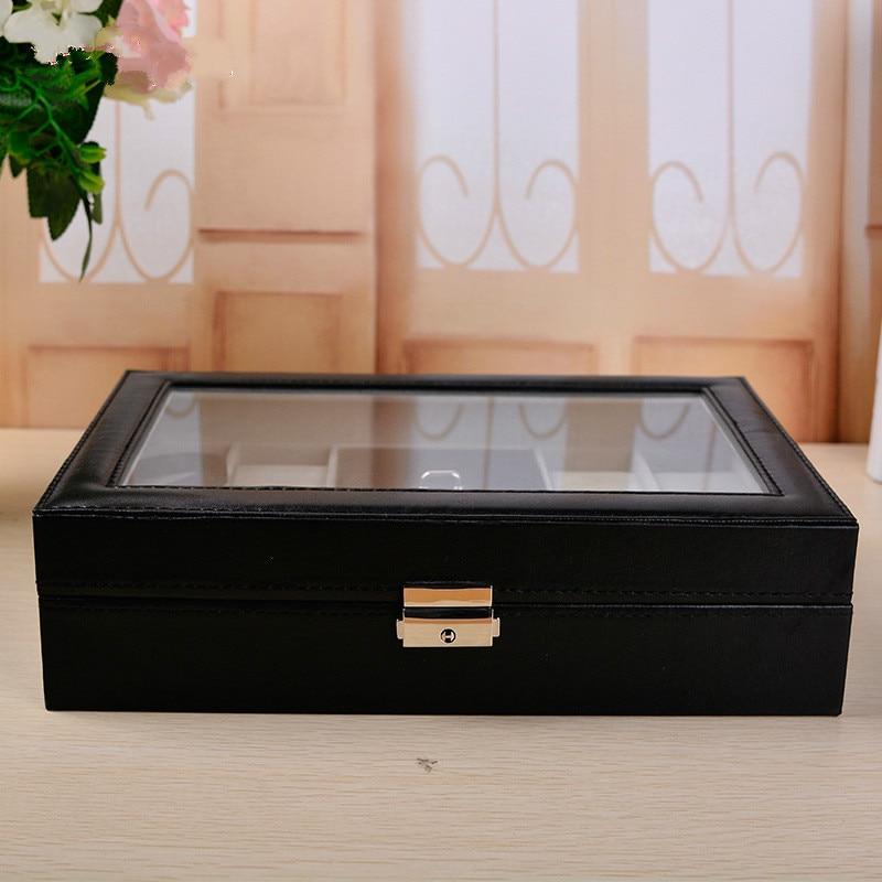 Многофункциональный 8 + 2 часы коробка ювелирных изделий из искусственной кожи Высококачественная демонстрационная коробка для часов орган... - 4
