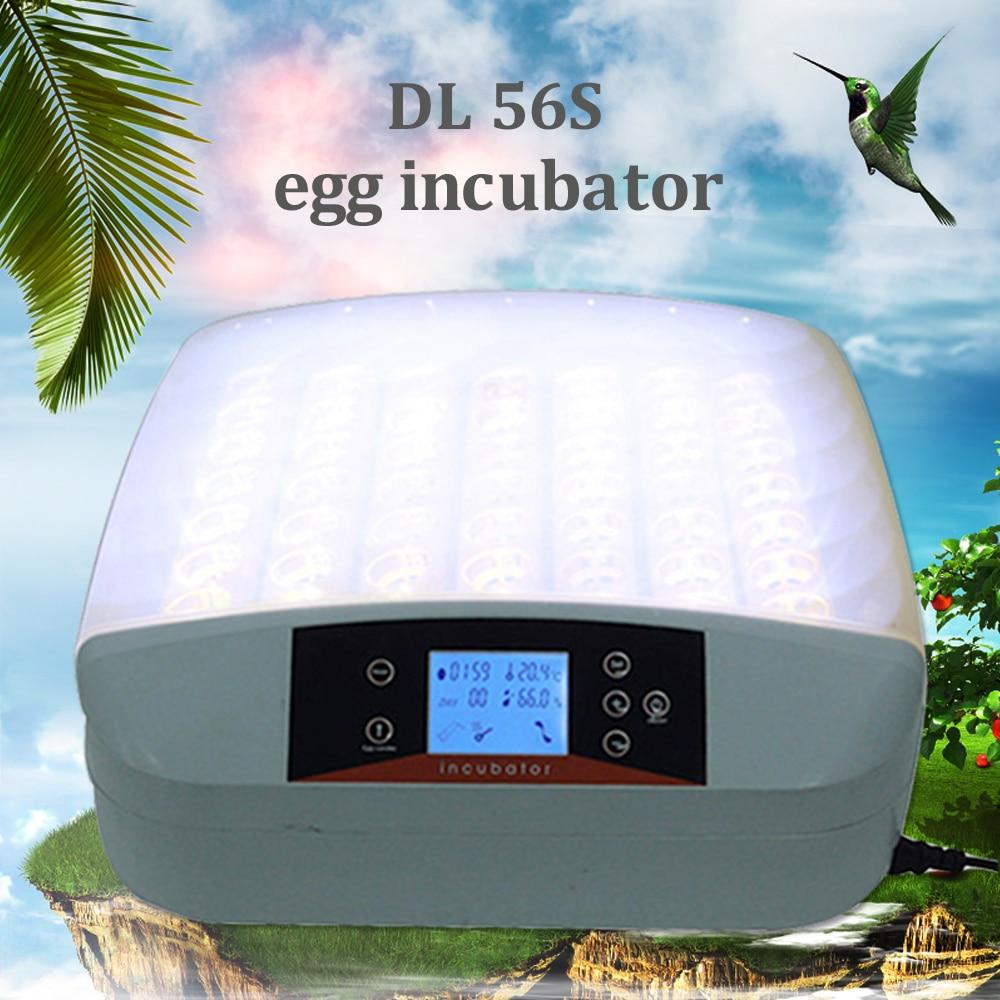 Mini Digital Chicken Incubator 56 Eggs Turning Brooder Tray Intelligent Hatchery Tools Industrial Farm Automatic Hatcher