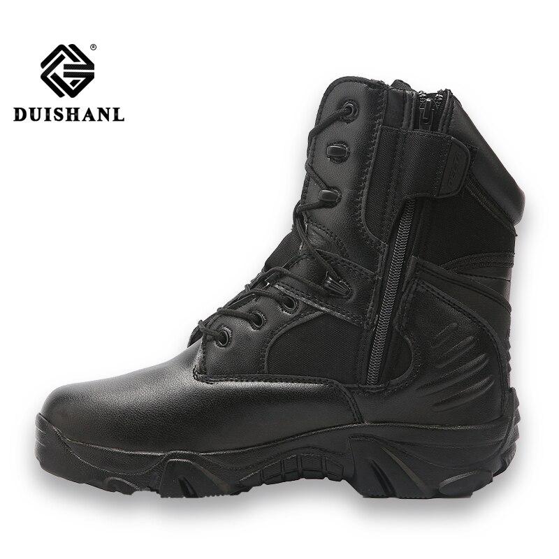 Bottes Hommes Colour Chaussures Militaires Duishanl black Spécial Travail En Sand Safty Cuir Hiver L'armée Forcetactical Combat De Colour 1wE57qR5