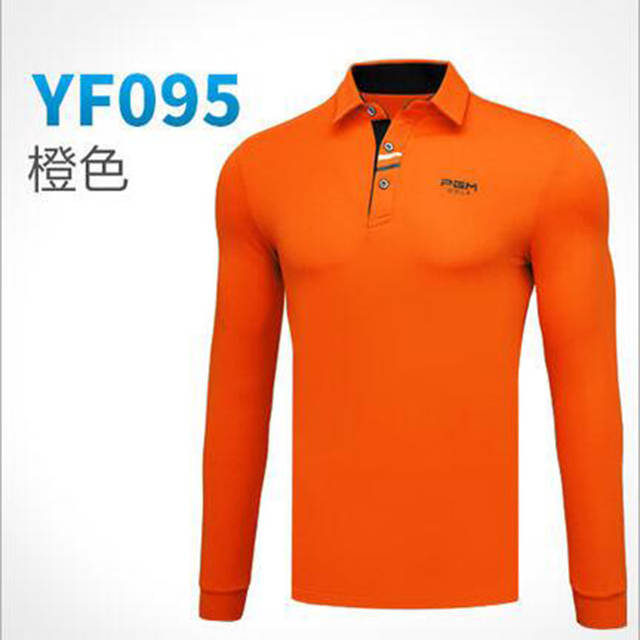 083f80c6 placeholder PGM Brand Breathable Mens Golf Shirts Outdoor Fit Polo Mens  Quick Dry Long Sleeve T-
