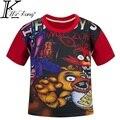 Roupas de bebê menino roupa das crianças dos desenhos animados camisetas cinco noites no freddy camiseta roupa dos miúdos dos meninos t-shirt 5 freddys DC769