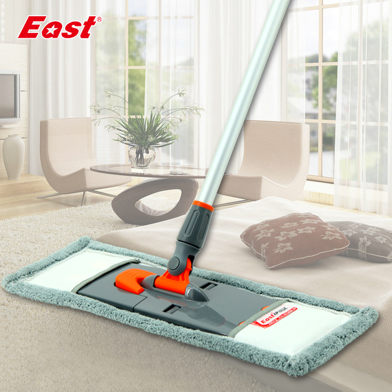 Life83 New Flat Mop Telescopic Pole Microfiber Cloth Towel Useful Mop Kitchen Living Room Floor Household Cleaning Tools