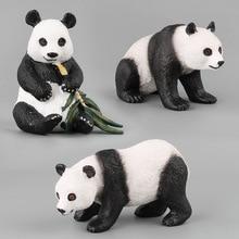 Panda Toys For Boys Children Gifts Cute Monkey Rhinoceros Gorilla Ostrich Crocodile Toy Animal Action Pop Figures