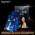 TRUMAY 1 bags Henna Black Hair Shampoo Only 5 Minutes White Become Black Fast Hair Dye Shampoo