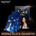 TRUMAY 1 bolsas Henna Champú Para El Pelo Negro Sólo 5 Minutos Se Blanco Negro Rápido Champú Tinte para el Cabello