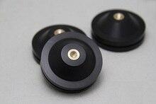 8PCS Ebony Wooden Speaker Spike Base Pad Mat Isolation HIFI Mounts 33mm 43mm