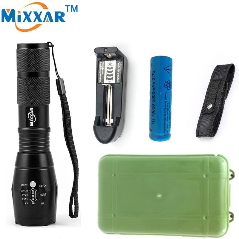 EZK20 9000LM LED Camping Hunting Police Flashlight Self Defense Tactical Flashlight Portable led Lamp Light Lanternas Torch outdoor camping emergency light solar powered led flashlight self defense glare flashlight hammer torch light with power bank