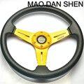 2015 Hot Fashion 14 inch PU leather steering wheel modified car / Universal Racing Wheel / MOMO steering wheel of high-quality