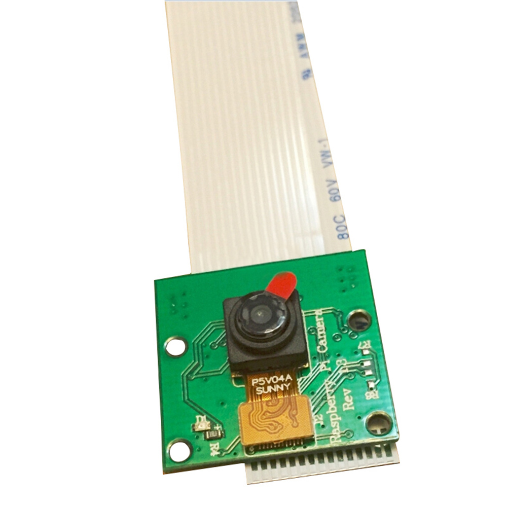 Elisona 5MP Wide Angle Camera Webcam Board Module For Raspberry Pi RPI 2 3 Pi3 Pi2 With Cable Gadget Compute Accessories