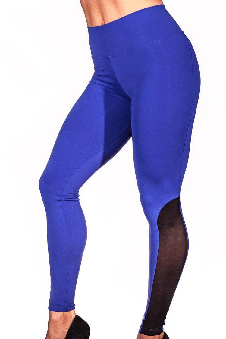 2018 Leggings Women Mesh Splice Tights Fitness Slim High Waist Black Scrunch Legging Sportswear Clothing Gym Leggings Tracksuit 5