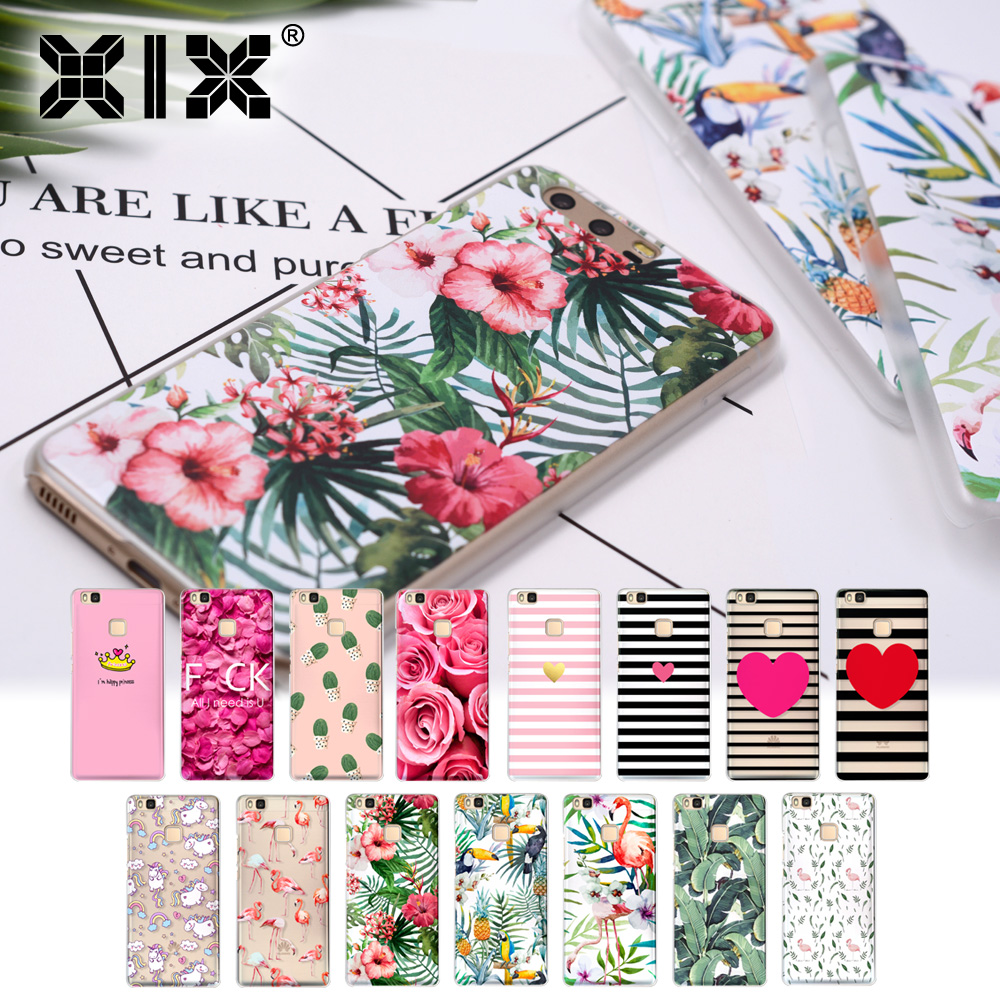 For coque Huawei P9 lite case Flower paint hard PC cover for fundas Huawei P8 lite case new arrivals for Huawei P9 lite P8 lite