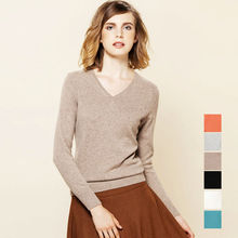 100% CASHMERE women solid PULLOVERS sueter Luxury basic wool sweater top tunic jumper pull femme 2015 Fall Winter Brand new