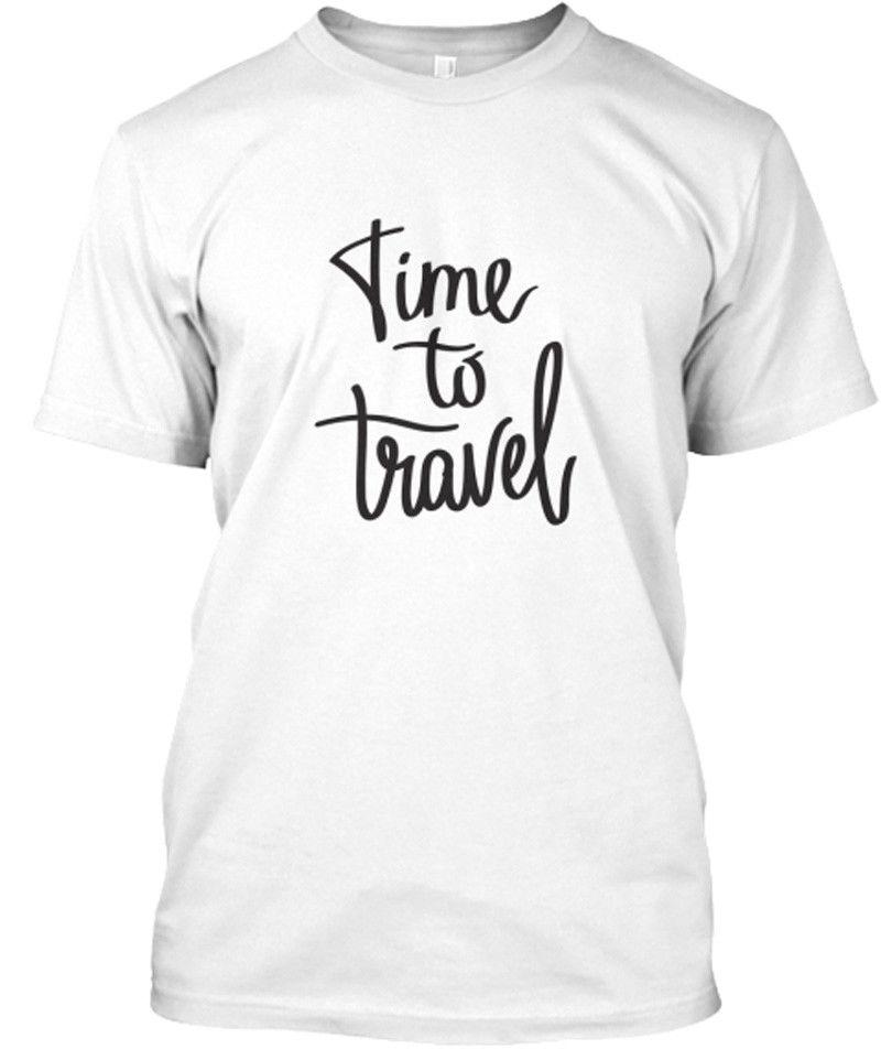 Время для путешествия футболки для Для мужчин фитнес хлопковая рубашка забавный узор Для мужчин Костюмы