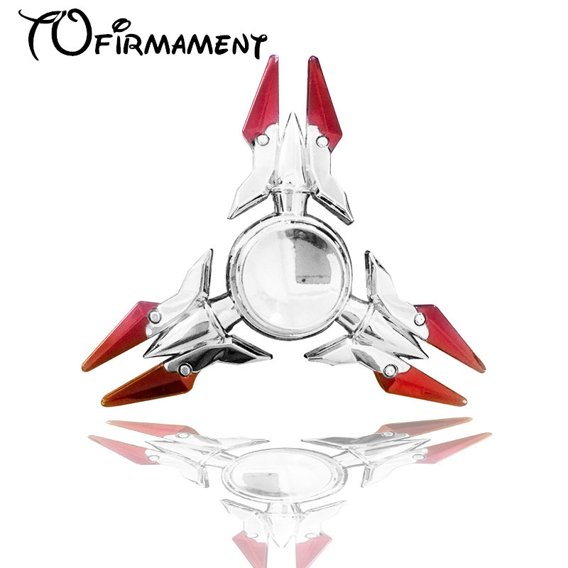 2017 latest fancy colorful crab style game model Metal EDC Hand Spinner Finger Fidget Hybird Bearing Gyro Kids Adult Focus Toy