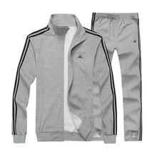 L-8XL Autumn Men Sportswear Tracksuit Zip Up Jacket Sweatshirt+pant Running Jogger Casual Fitness Workout Outfit Set Sport Suit