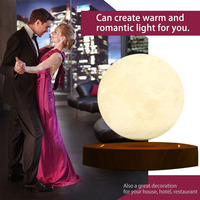 2018 Brand New! 10cm 3D Magnetic Levitating Floating Moon Lamp with Wooden Base Romantic Night Lamp Home Decoration Novelty Gift