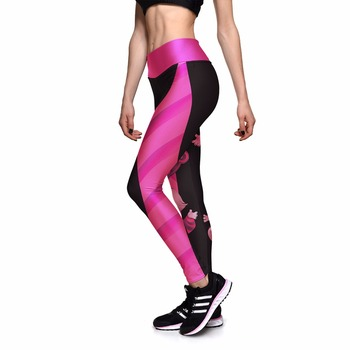 NEW 0010 Girl Women Alice in Wonderland Cheshire cat 3D Prints High Waist Running Fitness Sport Leggings Jogger Yoga Pants 1
