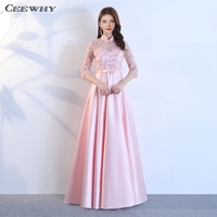 CEEWHY Long Pink Dress Robes Demoiselles D Honneur Longue Euskadi Bridesmaid Dresses 2018 Prom Dress Brautjungfernkleid
