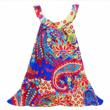 Girl vest dress kid Beach cotton Nation clothing children printing dresses