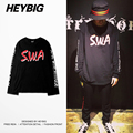 Soul with Attitude INS hot elongated sleeve Tee men HEYBIG swag men HIP HOP t-shirts Chinese Size oversized rock n Rap clothing