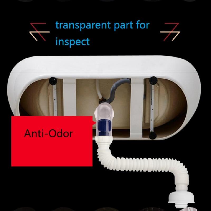 Нержавеющая сталь и ABS пластик слива воды, трубы анти-запах с крылом гибкая труба