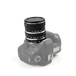 Image 5 - Kaliou 13mm 21mm 31mm Auto Focus Macro Extension Tube Set for Canon EF EF S Lens Canon 700d t5i 7d 5d Black Red Silver color