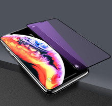 For OPPO A7 A51 K1 R15 R15X R17 Anti-Purple Light 9H Full Cover Tempered Glass PRO A79 A83 Screen Protector