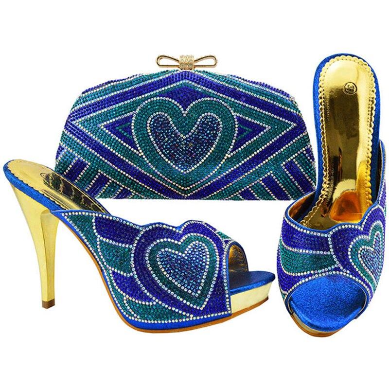 Assorti Les Chaussures gold En Sur Sac Blue Avec Italie Et Femmes Haute Fuchsia Pour sliver sky purple royal Talons Glissement Blue Strass Pompes Mis Italiennes wqXfXrt