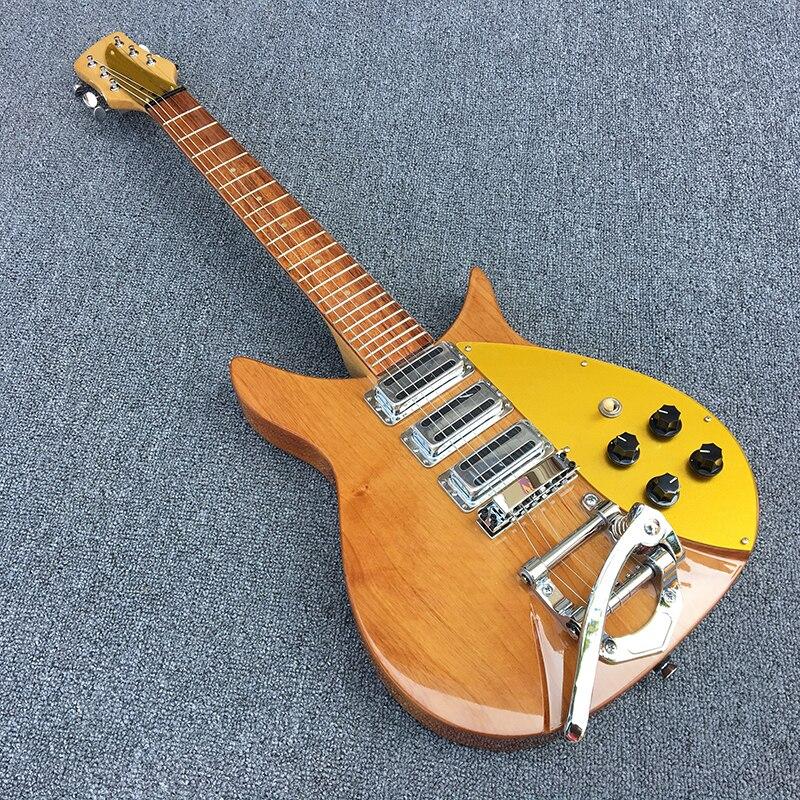 Haute qualité rickenbacker guitare électrique, deux aulne organes, d'érable de guitare cou, production coréenne de trois pick-up, Réel photos
