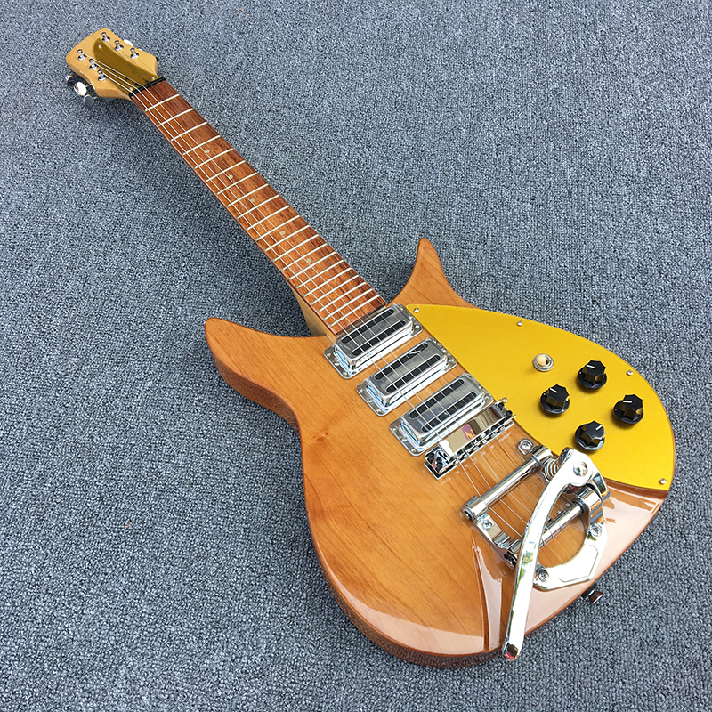 High quality rickenbacker electric guitar, two alder bodies, maple's guitar neck, Korean production of three pickup, Real photos diy no paint high quality three pickup rickenbacker 325 electric guitar give the signature real photos free shipping hot sale