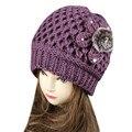 2016 New Fashion Women's Lady Beret Braided Baggy Beanie Crochet Warm Winter Hat Ski Cap Wool Knitted Free Shipping