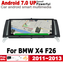 IPS Android 7.0 up car multimedia player gps navigation for BMW X4 F26 2011~2013 CIC original style HD screen  2GB+32GB WiFi BT