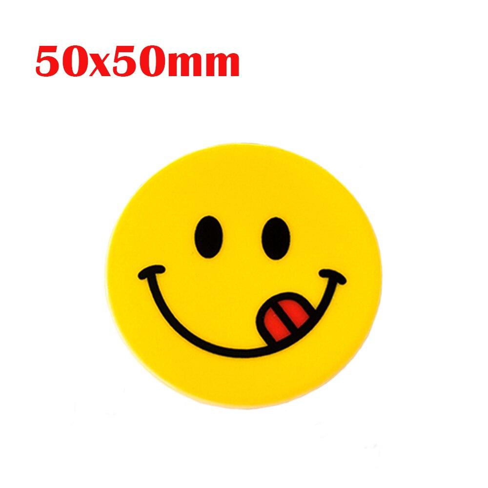 50 50mm 5 Pcs Kartun Emoji Menjilat Planar Resin Lucu Senyum